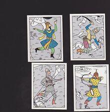 Herge Tintin Panini 1989 autocollants 235 236 237 238
