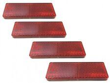 4x Reflektor Katzenauge Seitenstrahler 85.5x31.5mm Rot Selbstklebend E-Geprüft