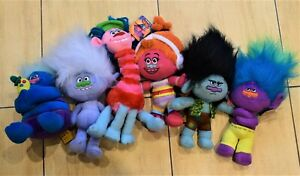 DREAMWORKS TROLLS SOFT TOY CHARACTERS DJ SUKI COOPER GUY DIAMOND BRANCH 30 cm