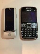 Cell phones For cellectors motorola & nokia E72