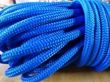 """3/8"""" x 88 ft. Double Braid~Yacht Braid polyester Rope. Blue"""