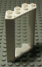 Lego Fenster Ecke 4x4x6 Weiss mit Transparenter Scheibe                   (1158)