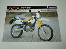 Prospectus Catalogue Brochure Moto Suzuki DR 350 SE 1999 Espana
