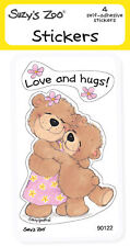 """Suzy's Zoo Stickers 4-pack, """"Love and Hugs!"""" 10130"""