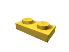 1085 # Lego Platte mit Griff 1x2 Gelb 5 Stück