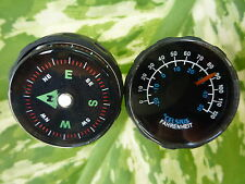 27mm COMPASS + THERMOMETER  WITH HOLD FIT FOR 21 MM WATCH BAND EACH ONE PIECES