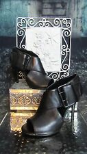 Nine West Tamina Open-Toe Buckle Accent Leather  Booties. Size 7.5. So Cute!
