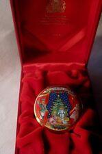 Halcyon Days England Enamel Christmas 2001 Trinket Box - In Original Box - Mint