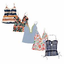 Lucky Brand женские танкини топы с узором купания купальных костюма купальный костюм новый с ценниками