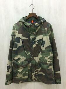 THE NORTH FACE PURPLE LABEL x BEAMS Mountain Parka Camouflage Khaki Size L Used