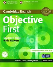 OBJECTIVE FIRST 4th Ed STUDENT'S BOOK w Answers +CD-ROM for Exam from 2015 @NEW@