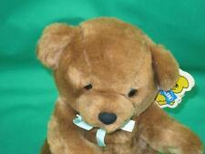 NEW VINTAGE 1987 DAKIN PILLOW SOFT GOOD HOUSEKEEPING BROWN TEDDY BEAR GREEN BOW