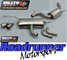 Milltek SSXVW115 Golf GTI MK6 Exhaust Cat Back Resonated DUAL 90mm JET Tails EC