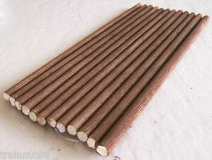 """HO/N Beautifully Custom Detailed 12 Pieces 3/8"""" Round Real Wood 12"""" Long Logs"""