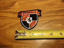 CINN BENGALS SMALL SHIELD PATCH 3 INCHES SWEET