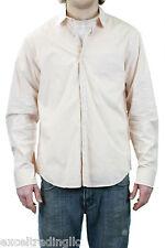 STEVEN ALAN Peach Reverse Seam Inside Pocket Shirt SP11-MST0002CT NWT $188