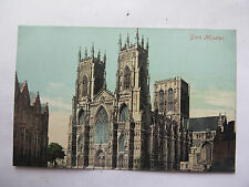 POSTCARD YORK MINSTER CATHEDRAL GREAT BRITAIN VALENTINE SERIES in COLOUR c1910