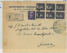 ITALIA:  storia postale - Fbbli LUOGOTENENZA usati in periodo REPUBBLICA 1946