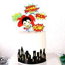 Superman Birthday Cake Toppers For Kids Birthday Party Cake Decorations
