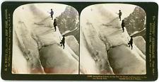 Stereo France, Alpes de Savoie, Ascension de la mer de Glace, 1908 Vintage stere
