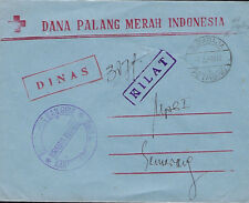 INDONESIA :1979 stampless Commercial envelope to Semarang-cachets