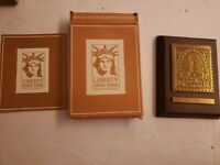 LIBERTY 1886 - 1986 15 Cent Stamp Wall Plaque By Avon NEW VINTAGE