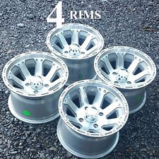 4) 12 inch ALUMINUM RIM WHEEL fits some Mini Truck 12x8 4/4 8-spoke scratch dent
