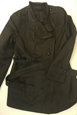 Black Via Spiga Belted Jacket Size XL