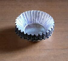 50 x Foil Egg Mould Baking Cups Tart Muffin Cupcake Cases Silver Cut Edge