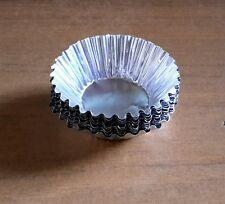 50 x Foil Baking Cups Tart Muffin Cupcake Cases Silver Cut Edge