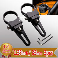 """2X 1-1/4"""" 32mm 1.25"""" Bull Bar Mount Brackets Clamp for Offroad LED Light Bar HID"""