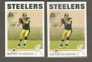 2004 BEN ROETHLISBERGER Rookie RC (Lot of 2) Topps  STEELERS MINT!!!