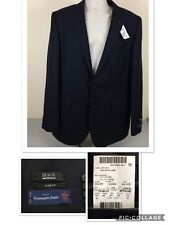 "NEW Ermenegiildo Zegna ""Saks Fifth Avenue"" Men Blazer Navy Size 42L 100% Wool"