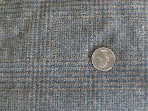"3161.  SOFT Gray/Tan PLAID Wool or Wool Blend FABRIC - 42"" x 1 3/8 yds."