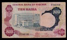 NIGERIA  10 NAIRA ND ( 1973-78 ) PICK # 17a FINE.
