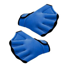 1 Pair Swimming Hand Paddles Webbed Water Resistance Swimming Training Gloves