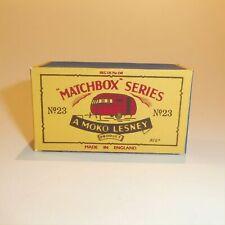 Matchbox Lesney No23 Bluebird Dauphine Caravan Number Plate Sticker Van Not Inc