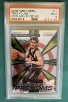 2018-19 Prizm Trae Young Freshman Phenoms Rookie Card RC #21 PSA 9 MINT Hawks 🔥
