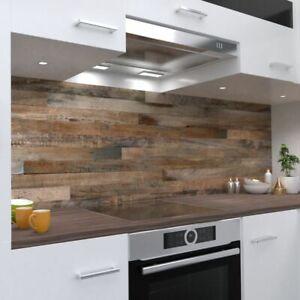 Holzrückwand Design Küchenrückwand selbstklebend Wandtattoo für Fliesenspiegel