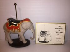 1988 Franklin Mint Elephant Carousel Figurine The Treasury of Carousel Art