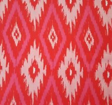 Poppy BTY Maude Asbury Blend Fabrics Tonal Pink Red Abstract Ikat