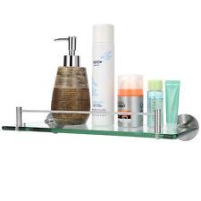 Bathroom Shelf Glass Wall Mount Bath Space Saver Storage Rack Organizer Holder