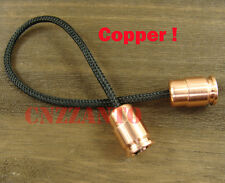 "Solid Copper Begleri Bullet shaped toy ""worry beads"" lanyard bead Zipper pull"