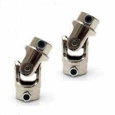 """Pair New Chrome 3/4-36 Spline X 1"""" DD driveshaft Universal Steering Box U Joints"""