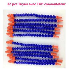 12Pcs Tube Tuyau en Plastique Flexible Pour Tour CNC Fraiseuse + TAP Commutateur