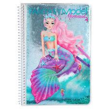 Fantasy Model Malbuch Stickerbuch Mermaid Meerjungfrau TOPModel Depesche 10036