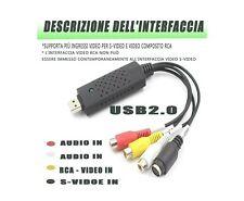 Convertitore Audio Video USB 2.0 Analog a Digitale, Scheda di Acquisizi