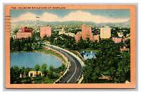 Wilshire BLVD at Westlake, Postcard Posted Los Angleles, CA California 1946