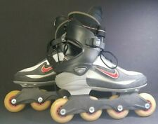 Nike Air Zoom Carbon Roller Blades Inline Skates Mens Sz 8.5 red gray hockey