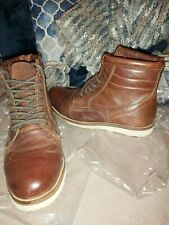 Superdry Buffalo Hide Leather Size 8 Boots Brown Ankle